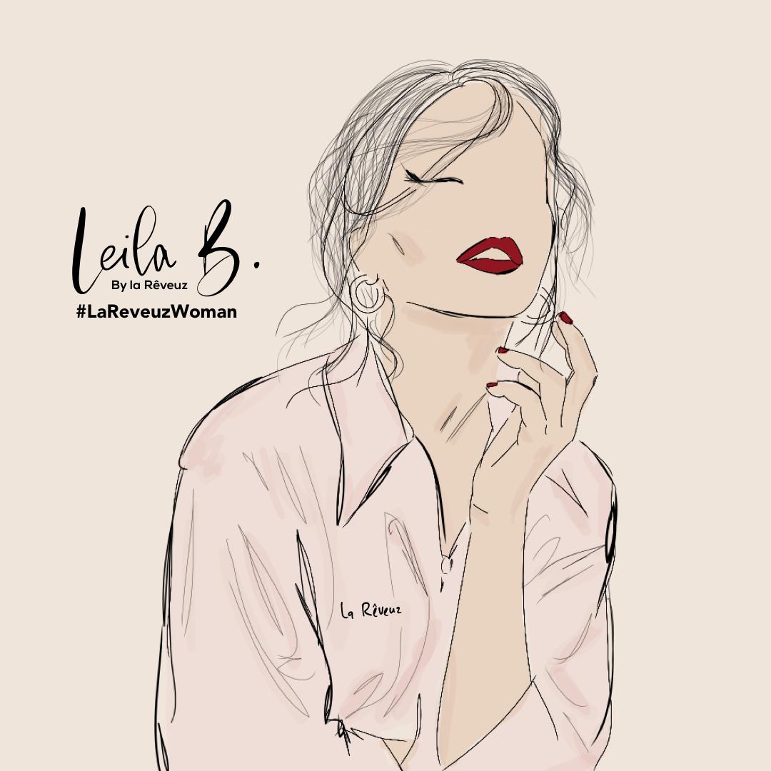 Leila bekhti la Reveuz illustration paris égérie l'oreal