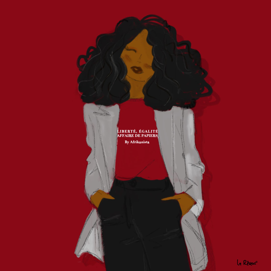 la Reveuz illustration Paris black girl fashion afrikanista nappy