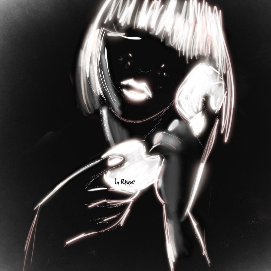 la Reveuz illustration Paris NEON GIRL