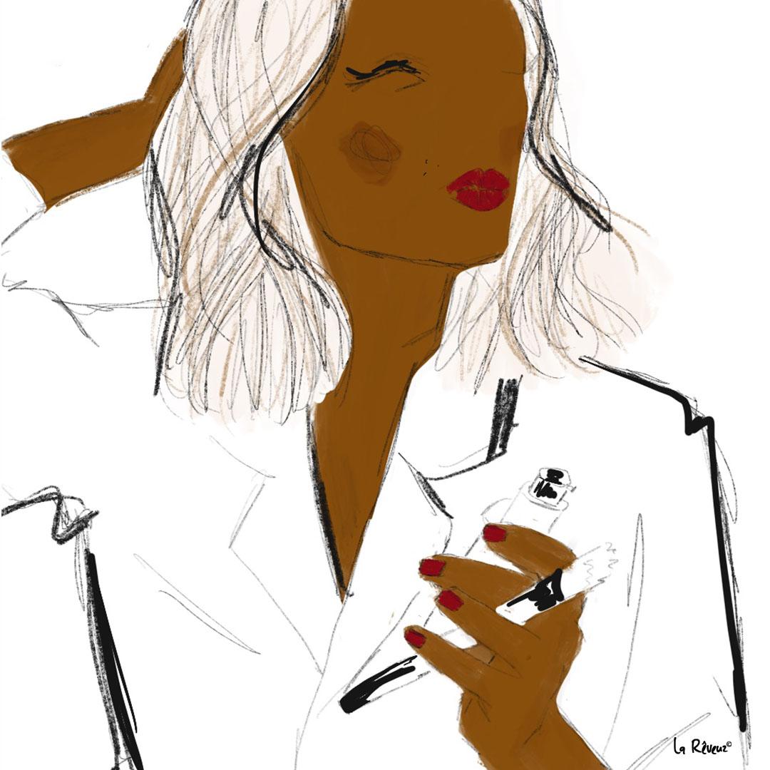 la Reveuz illustration Paris beauty make up