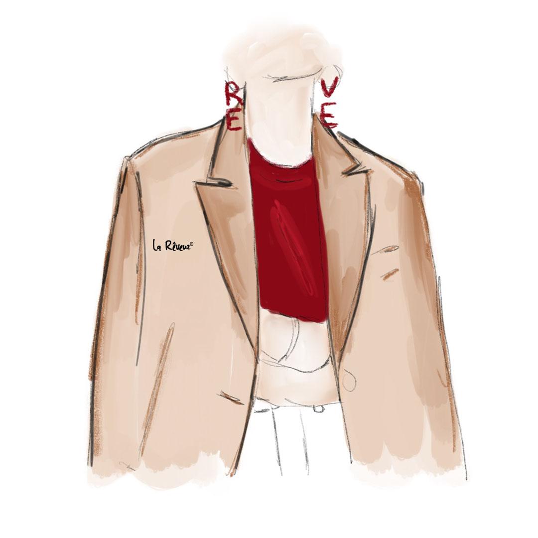 la Reveuz illustration Paris fashion minimalist accessoire