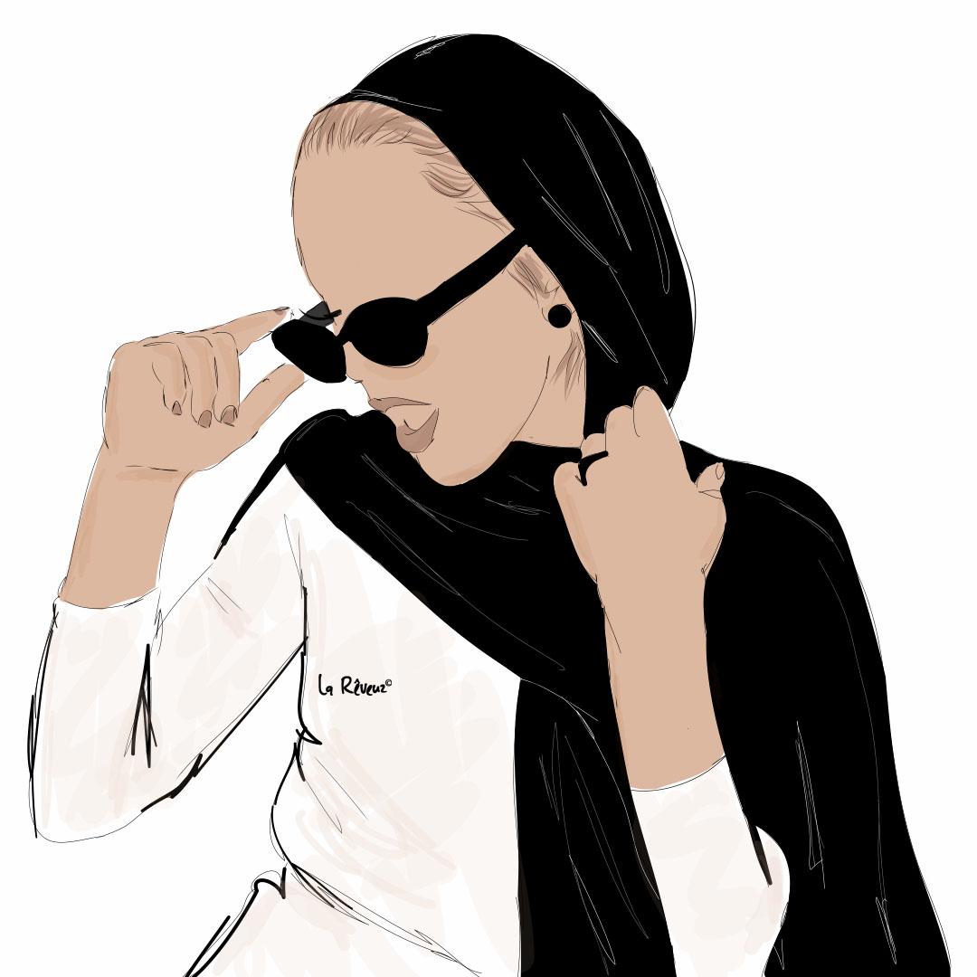 la Reveuz illustration Paris hijabista personnalisation