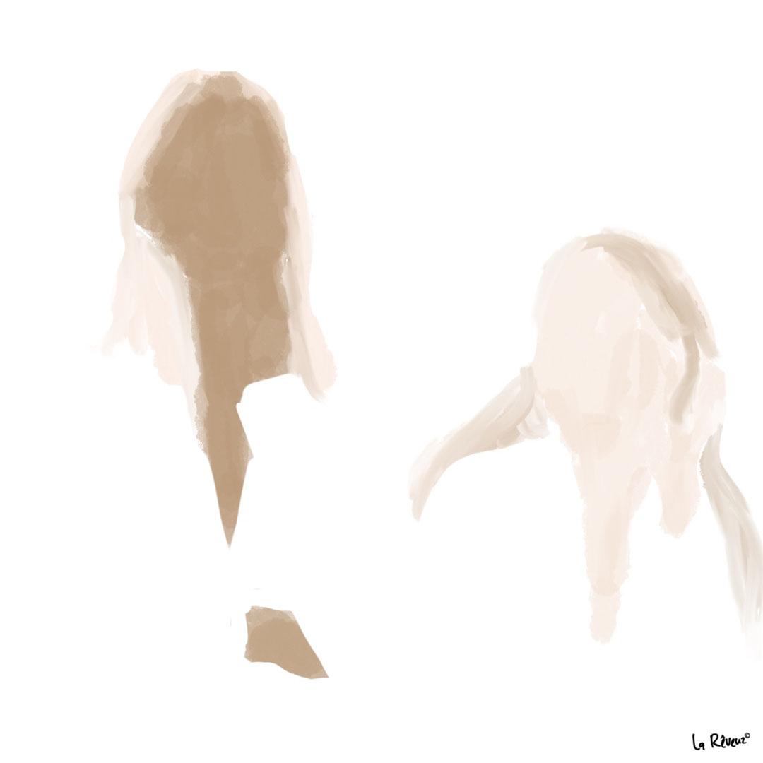 la Reveuz illustration Paris art pastel girl slow life